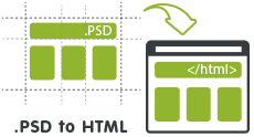 PSD to HTML Web Design