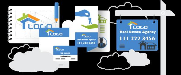 Immobilienmakler Logo and Visitenkarten Design